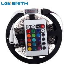 RGB LED Strip 5M 300leds 3528 SMD + 24Key IR Remote Controller 12V LED Flexible Light Home Decoration SMD LED Ribbon Diode Tape