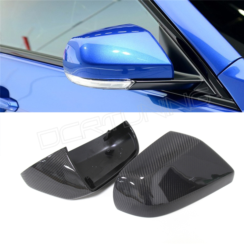 ФОТО For Cadillac ATS Carbon Caps 1 : 1 Replacement Style & Add On Style Carbon Fiber Mirror Covers 2014 2015 2016 - UP