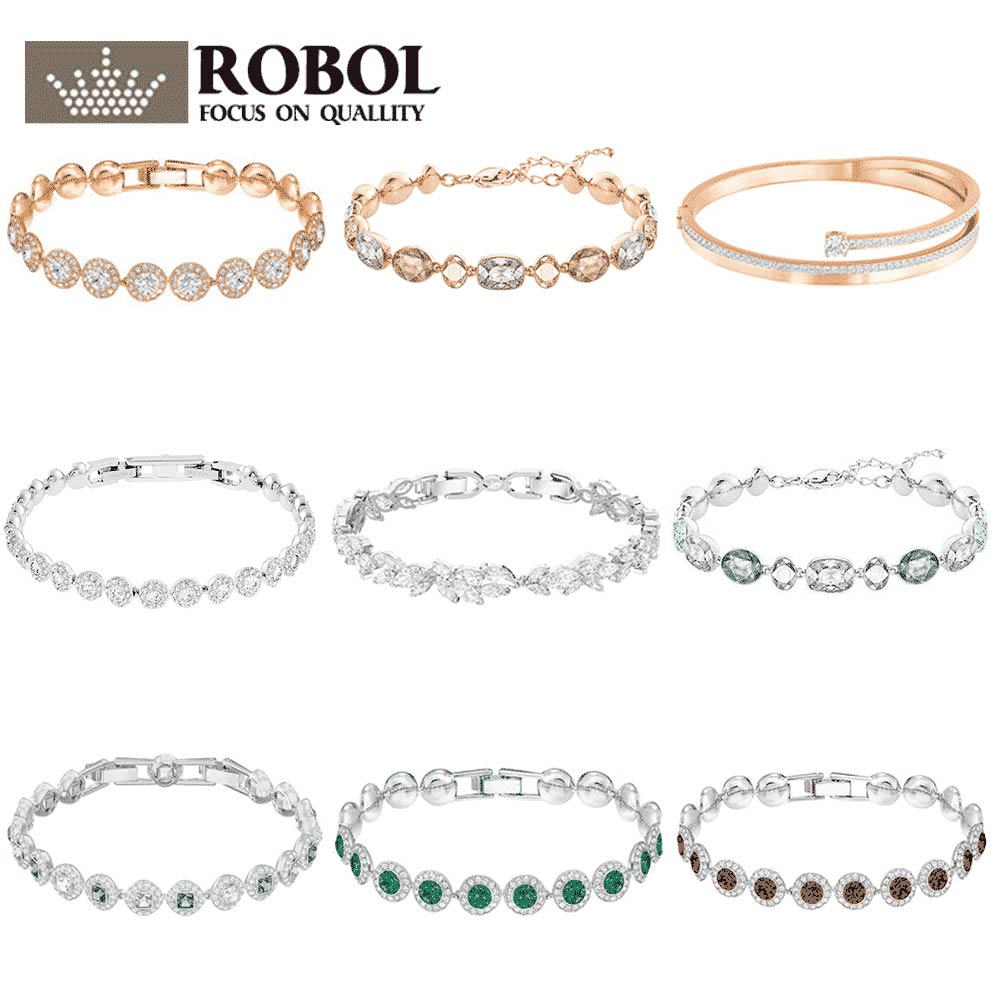 ROBOL High Quality Swa Original bracelets Women Jewelry Making For Women Wholesale Brand 1:1 Production Free Shipping Gifts For ROBOL High Quality Swa Original bracelets Women Jewelry Making For Women Wholesale Brand 1:1 Production Free Shipping Gifts For