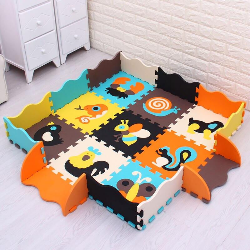 Chiffres/animal mei qi cool bébé EVA mousse tapis de jeu/puzzle tapis de sol par 30cm X 30cm épaisseur 1cm imperméable tapis de jeu tapis enfants