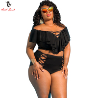 Ariel Sarah 5XL Large Size Bikini Set Women Sexy Plus Size Swimwear Big High Waist Bikini
