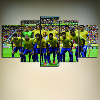 5 Piece 2014 Brazil World Cup Soccer Team Poster Print Wall Art Picture Painting On Canvas