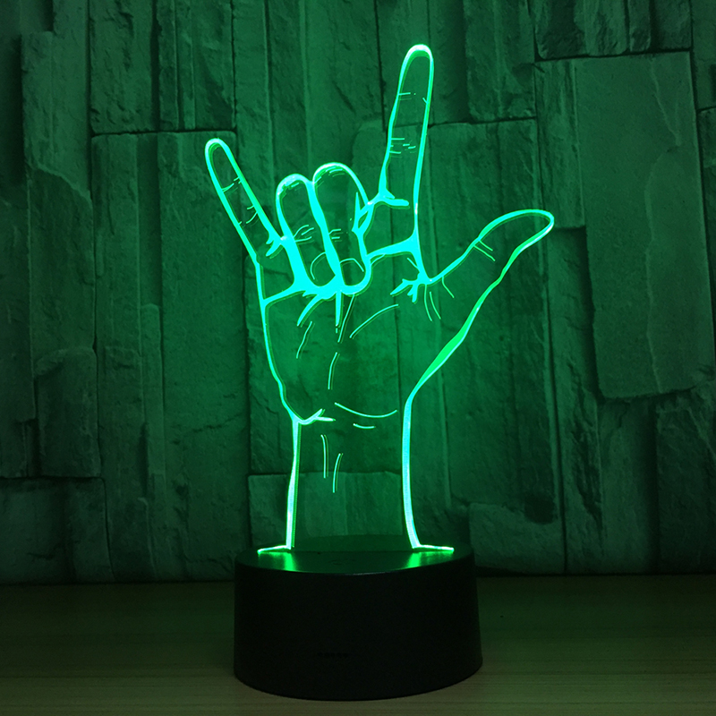 Acrylic 7 Color 3D LED nightlight Bedroom Livingroom desk table Decoration Night Lamp Birthday Party Gift For Children Friends