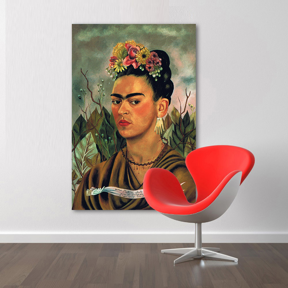 hdartisan symbolism canvas art frida kahlo self portrait 1940 home hdartisan symbolism canvas art frida kahlo self portrait 1940 home decor painting wall pictures for living room in painting calligraphy from home garden
