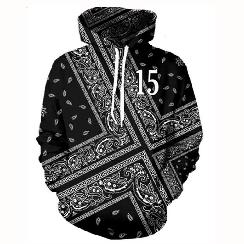 Raisevern Neue Schwarz Punk Hoodie 3D Vintage Grafik Druck Sweatshirt Langarm Pullover Mit Kapuze Sweats Tops M-3XL Dropship