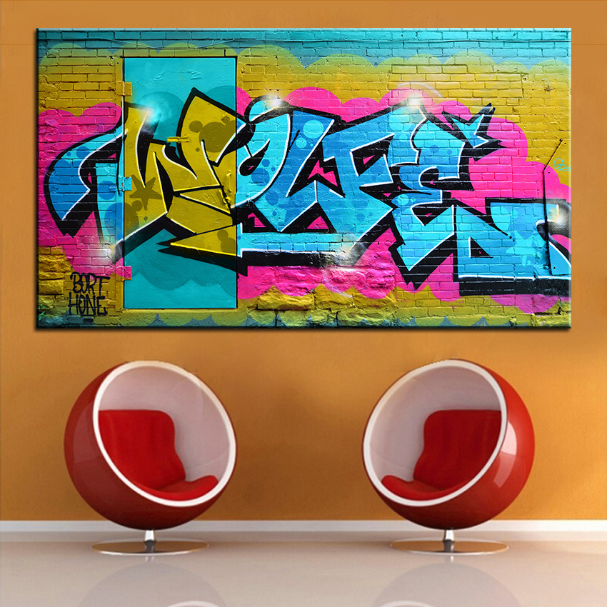 Large size Printing Oil Painting graffiti art 2 Wall painting Home Decorative  Wall Art Picture For