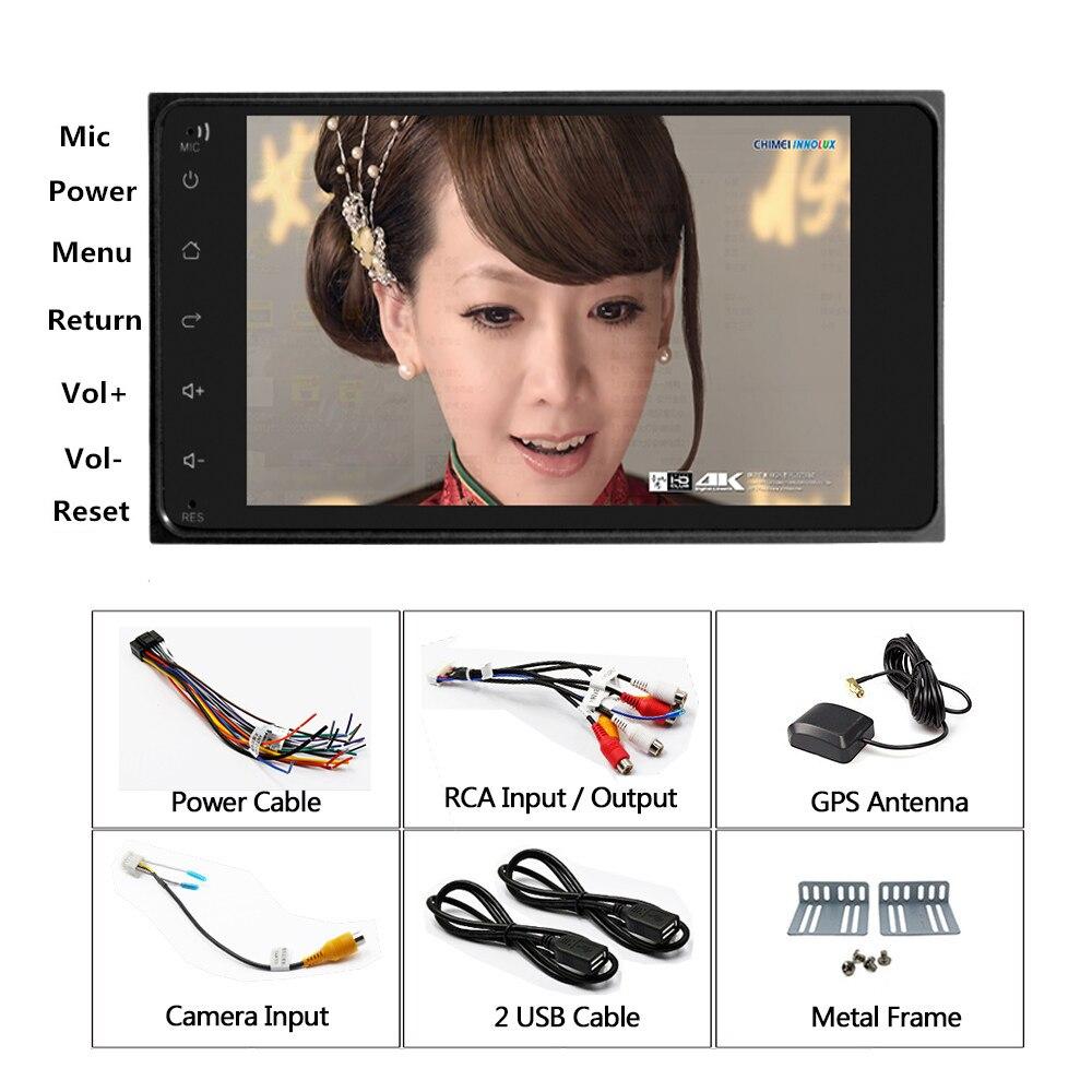 Autoradio Panlelo S11 2 Din Android pour Toyota Corolla 7 pouces unité de tête Navigation GPS Quad Core 1 GB RAM 16 GB ROM écran tactile - 6