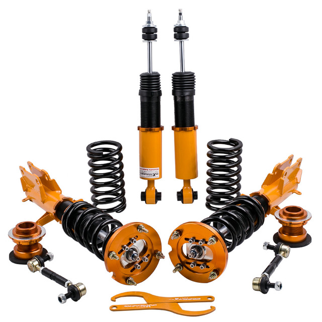 Full Shock Absorber Struts for Ford Mustang 05-14 Coilovers Suspension Convertible Sedan Front Rear Strut Spring