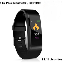 115plus Color OLED Screen Smart Healthy Bracelet IP67 Waterproof Pedometer Tracking Calorie Sleep for Android IOS Smartphones