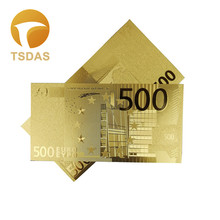 New European 500 Euro Banknote 24Kt Gold Foil 99999 Special Edition For Home and Office Decoration