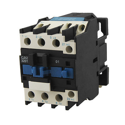 CJX2-3201 DIN Rail Mount Contactor 32A 3 Poles AC Coil 380V