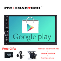 SMARTECH 2 Din Car Multimedia Radio Player For Universal Android 6 0 OS QuadCore CPU 1024