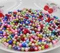 AZZ00364 6mm 500 pcs Mista ABS Acrílico imitar Pérola Spacer Bola Contas De Plástico Redondos Pérolas Resina Scrapbook Beads Decore Diy