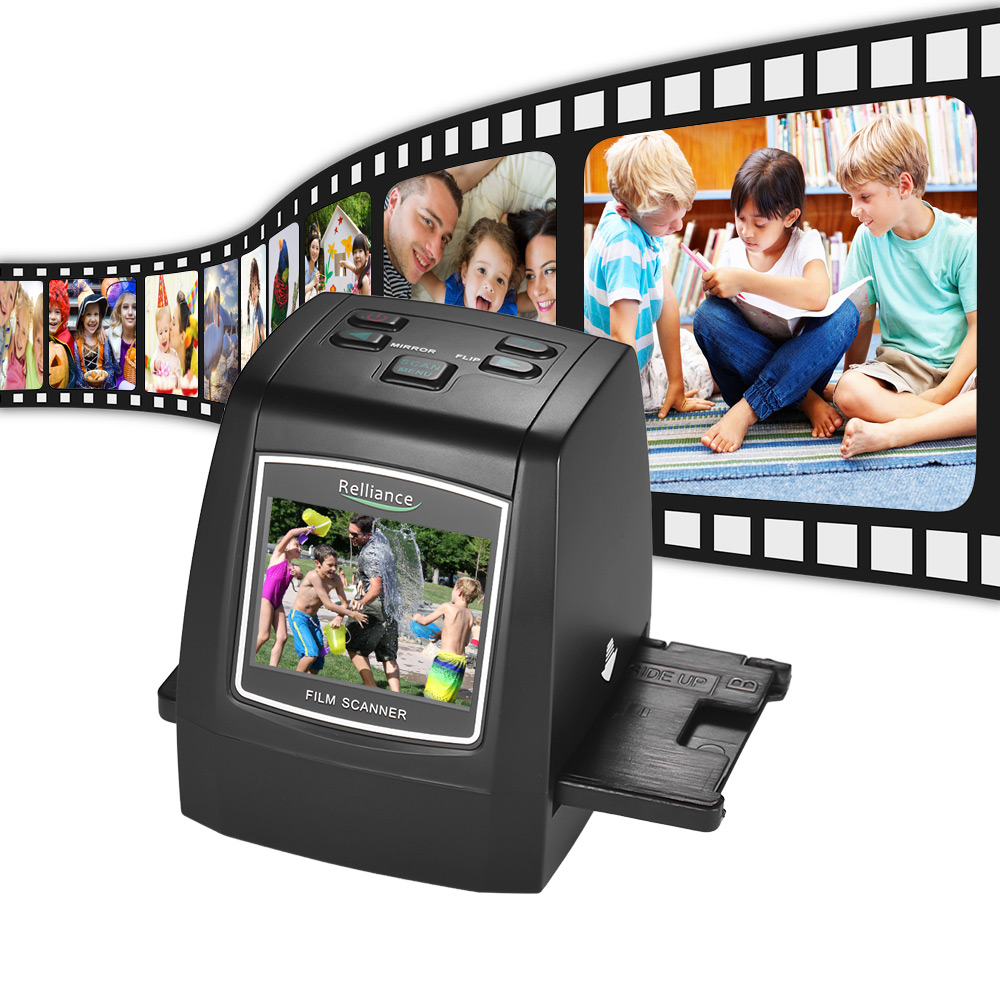 2.4in TFT LCD High-Resolution 14MP/22MP Film Scanner Convert 35mm/135mm Film Monochrome Slide Film Negative Into Digital Picture