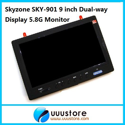 SkyZone Sky-901 Boscam RC901 9 FPV PIP 2CH QUAD LCD Screen Monitor Build-in 5.8g 32CH Re ...