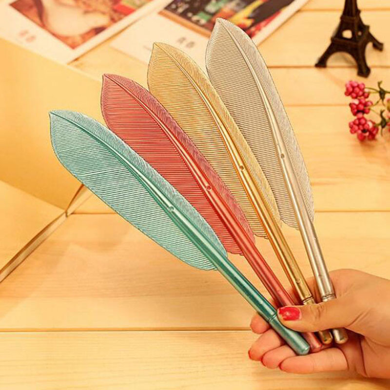 Image 3 - 20 Pcs/lot Hot Sale Creative Feather Shape Ballpoint Pen High Quality Plastic Writing for Kids Children Free Shipping Gift Pens-in Ballpoint Pens from Office & School Supplies