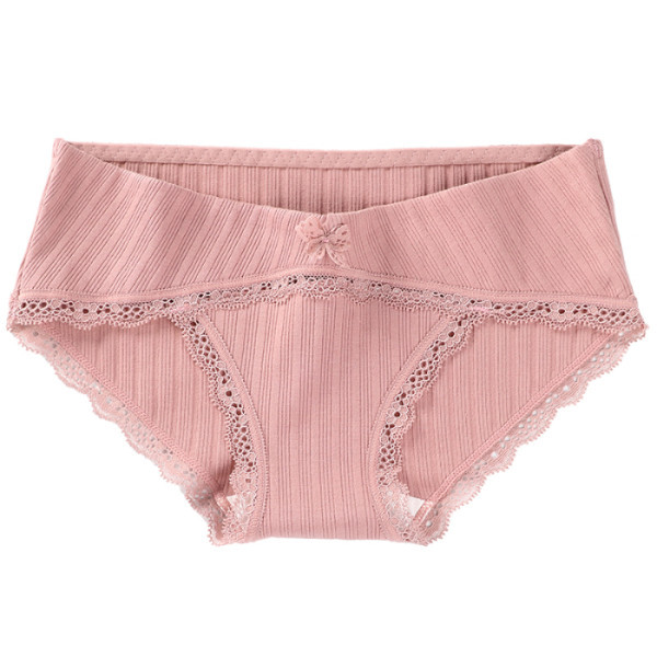 5547 1PCs Cotton Maternity Panties with Lace Low Waist Belly Underwear Clothes for Pregnant Women Pregnancy Briefs Drop Shipping 1