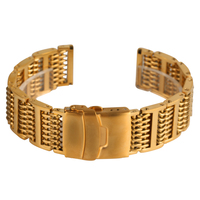 High Quality Golden Mesh Watch Band 20/ 22/ 24mm Suitable for Business Watch Luxury Replacement Bangle