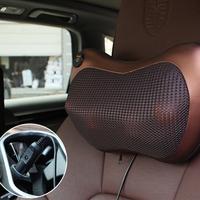 Atreus Car Styling 1pcs Protect Neck4/8 balls Massage Pillows For Porsche 911 Cayenne Macan For Mini Cooper R56 R50 R53 F56 F55
