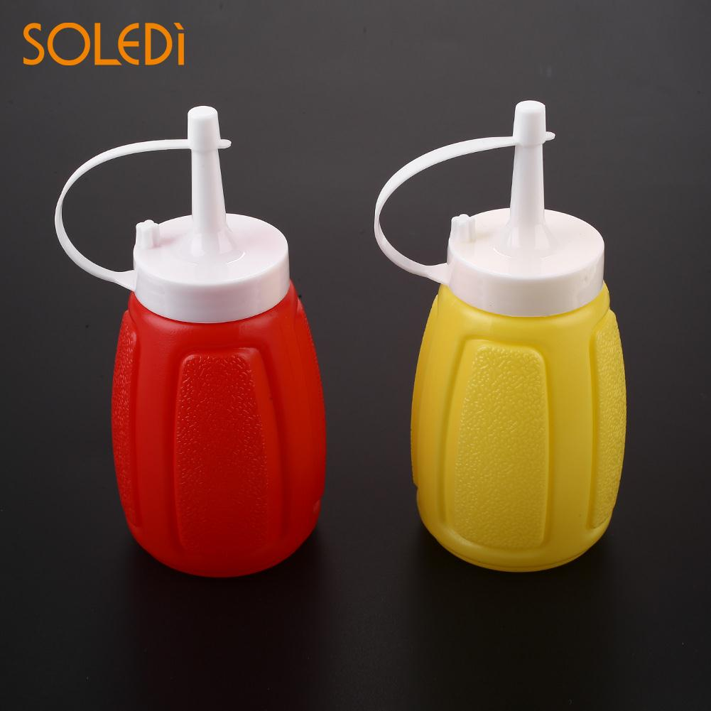 200ML Ketchup Bottle Squeeze Vinegar Mustard Sauce Salad Condiment New image