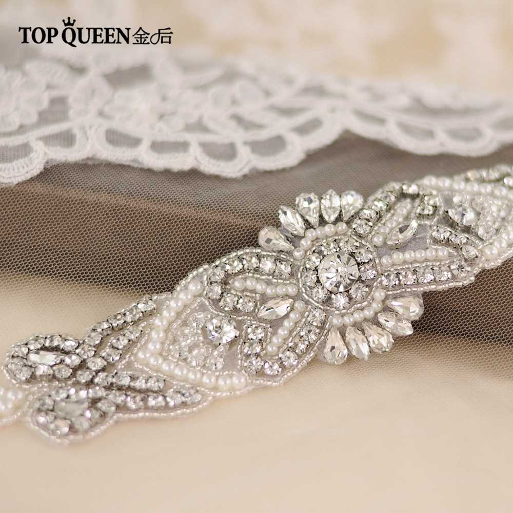 TOPQUEEN S208 Crystal Rhinestone Belt Bridal Sash Fashion Belts For Female  Belt For Wedding Shinning Thin ae1d282bf0d6