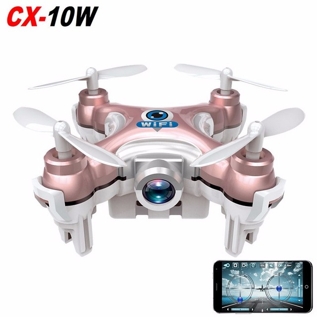 F17748 CX-10W Wi-fi FPV RC Quadcopter Cheerson CX10 0.3MP Camera LED Flip 3D 4CH Mini Drone Helicóptero de Brinquedo de Presente