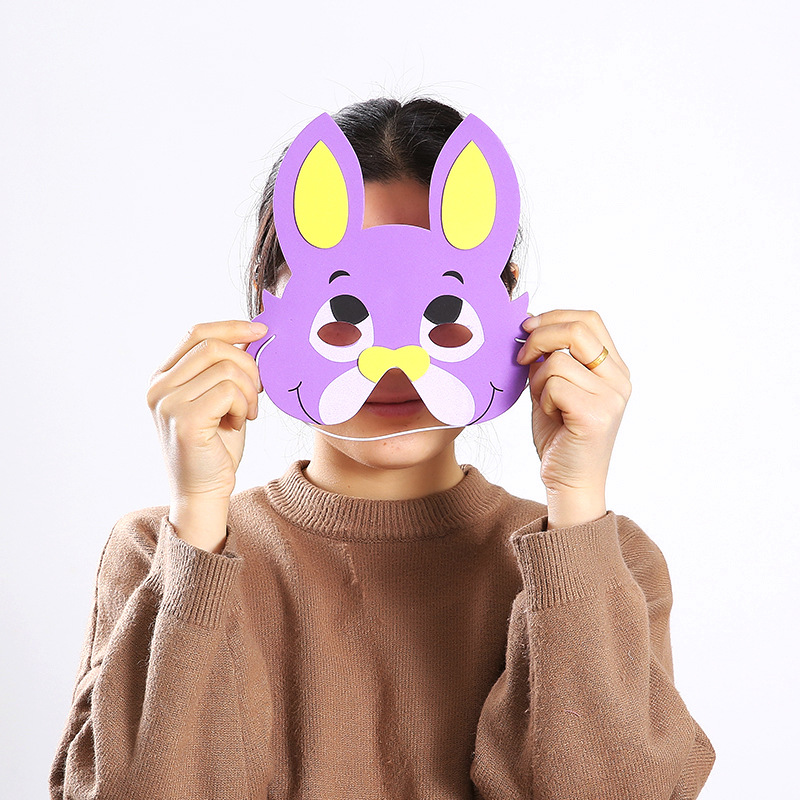 Cute EVA Foam Animal Masks Cartoon Hats For Children Birthday Party Cute Mask With Elastic Straps Toys Kids Game Dropshipping