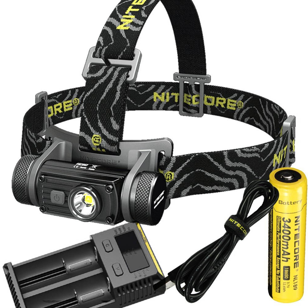 цена на Head Lamp NITECORE HC60 CREE XM-L2 U2 max. 1000LM beam Distance 117 meters rechargeable headlight with battery and charger