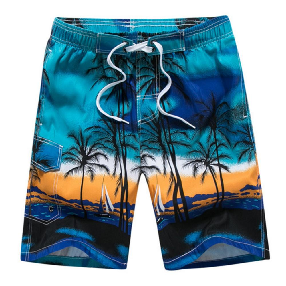 Men Swimming   Shorts   Summer Water Sports Beach   Shorts   Coconut Tree Print Trunks Casual Quick-Dry   Board     Shorts   Swimwear