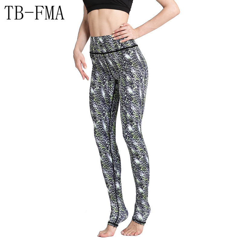 Sexy Yoga Pants Workout Fitness Running Tights Sportswear Compression Leggings Floral Widen Waist Dance Fitness Fabric Sports