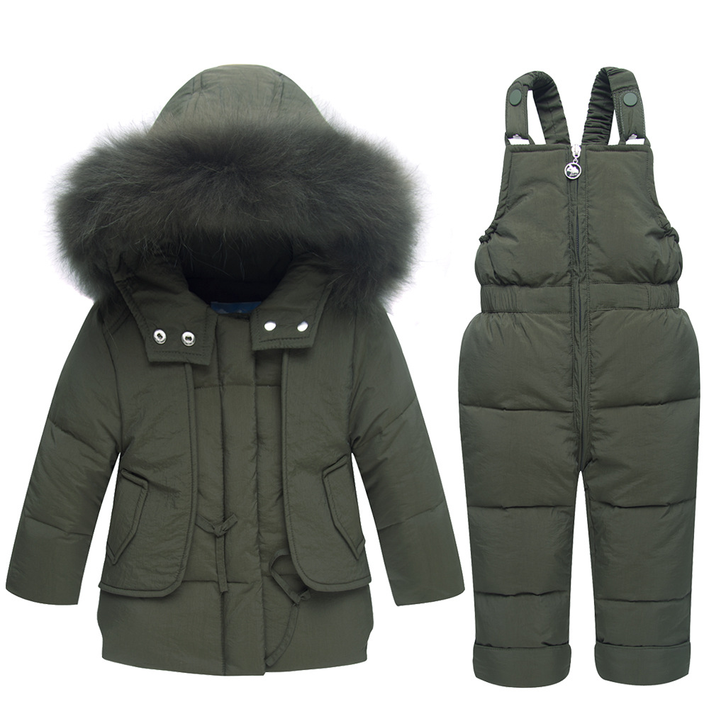 Kids Sets Winter Children Down Coats Pants Suits Fashion Jacket Girls Baby Thicken Warming Coats Boys Sets Hooded Windproof 2017 kids baby boys down jacket sets children girls fashion coat suits clothes strap pants two piece suit baby warming clothing