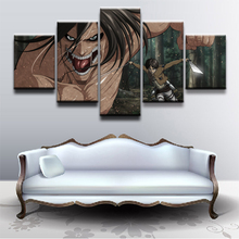 Anime Attack on Titan Living Room Home Decor Picture 5 Piece HD Print Paintings Canvas Wall Art Poster Prints Decorative