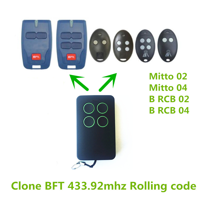 3x Remote Control Clone FAAC DOORHAN NICE Garage door gate replacement Remote  BFT Mitto 2/4  BFT RCB02/04 free shipping nice flo2r s replacement garage door opener remote control