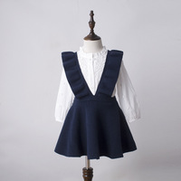 DHL EMS Free shipping Kid Knit weater Suspender Skirt 4 Colors Autumn/ Spring Children Clothes Knitted Skirt Kid Wear