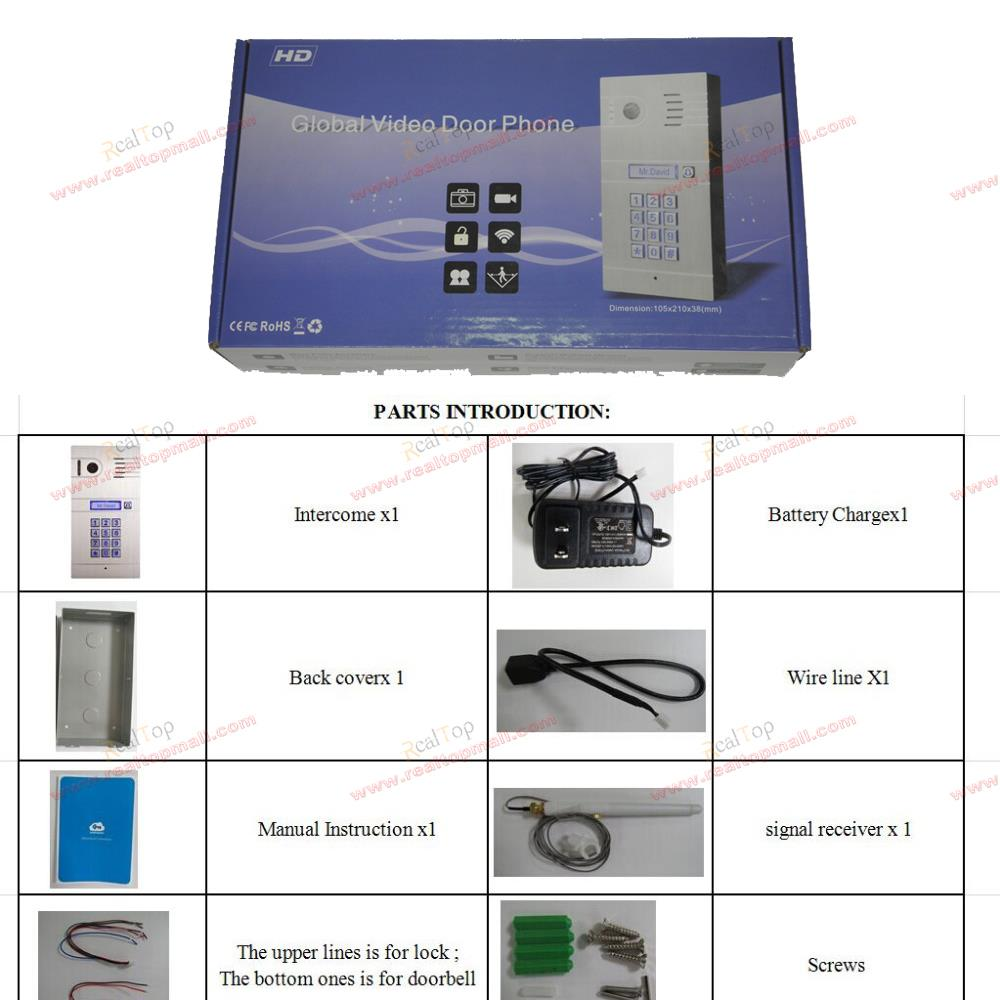 Wireless Ip Intercom System Home Access Door Open Remote Control Systems Wiring Drawings Camera Doorbell For Free Shipping In Video From Security Protection On
