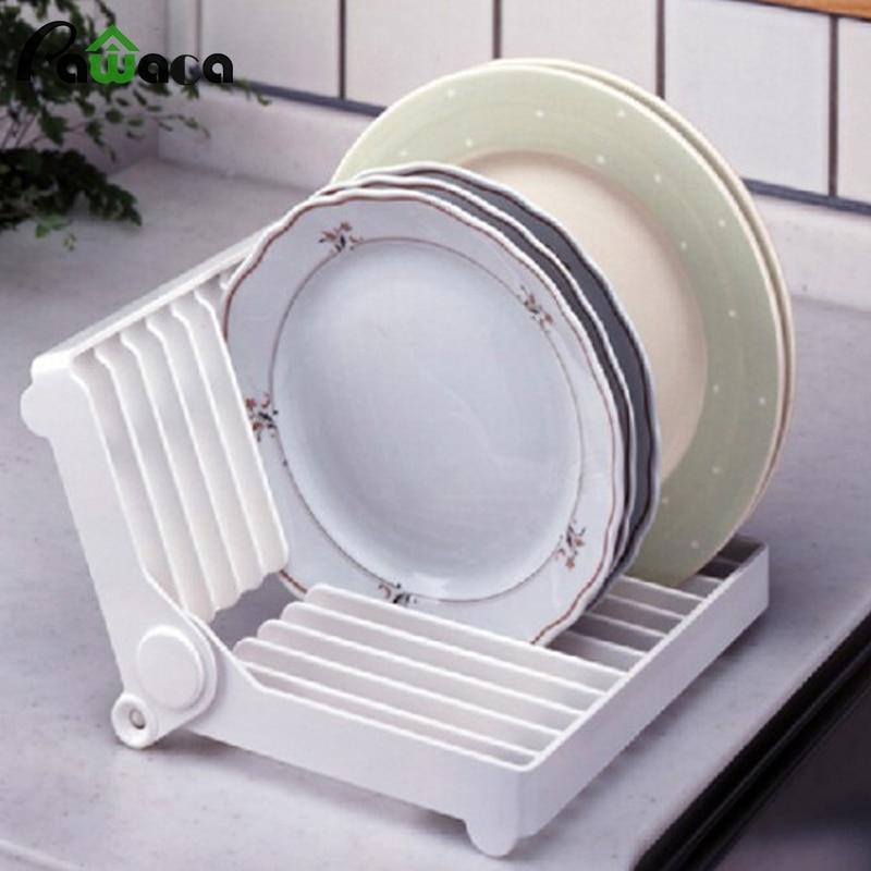 Plegable resistente tazón estante para platos plato estante de espacio de la coc