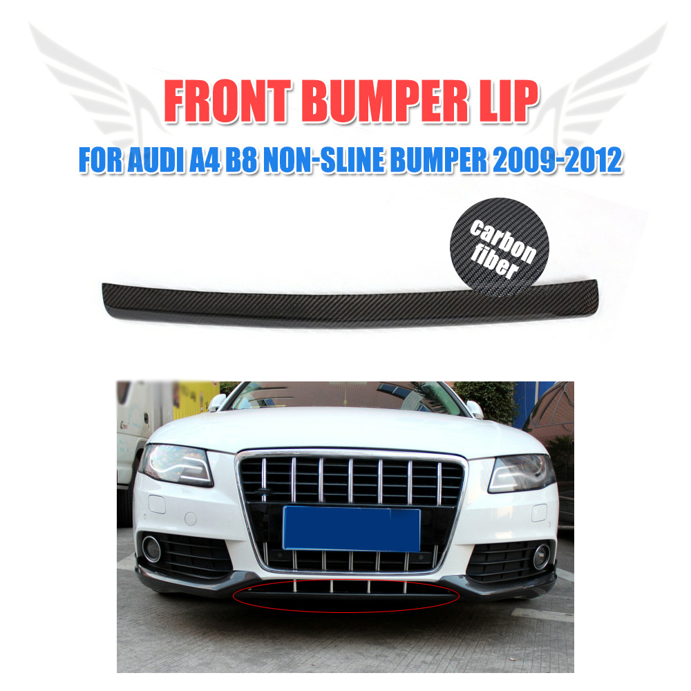 Carbon Fiber Front Bumper Lip Diffuser Spoiler for Audi A4 B8 Non-sline 2009-2012 Car Tuning Parts