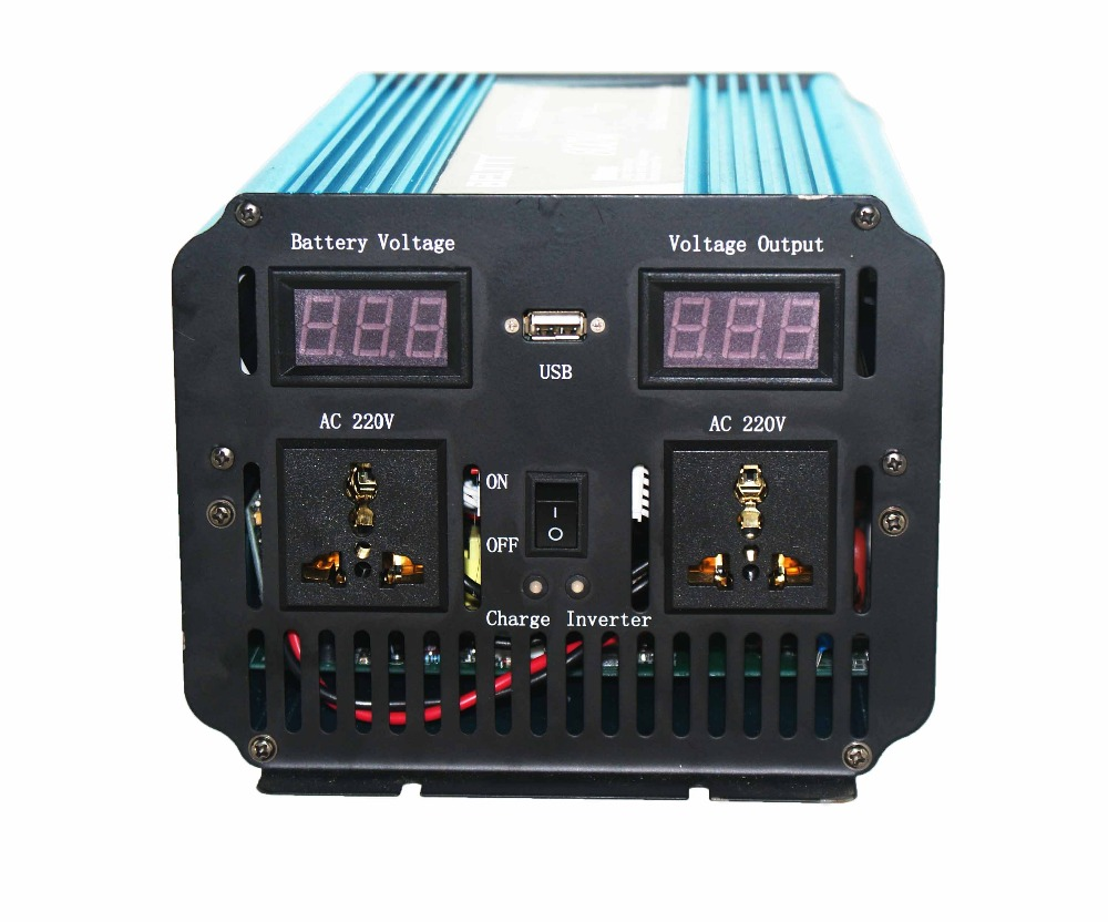 US $140 47 |DC12V to AC220V Hot seliing in Saudi Arabia with solar panels  for home 1000watt with AC charger LCD Display-in Car Inverters from