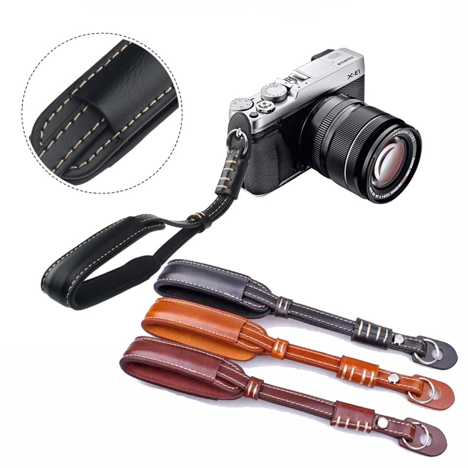 PU Leather Camera Wrist Hand Strap Lanyard for Sony Alpha DSLR a5000 a5100 a6000 A7R A7 A7R A7S A7I NEX7 NEX5 PU Leather Wrist