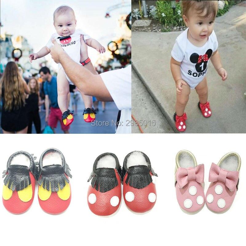 Hot Sale magas minőségű Baby Girls Shoes valódi bőr Mickey és - Babacipő