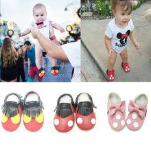 891089c51c6 Hot Πώληση Υψηλής ποιότητας παπούτσια κοριτσιών μωρών πραγματική δερμάτινη  Mickey και Minnie Toddler μωρό M..