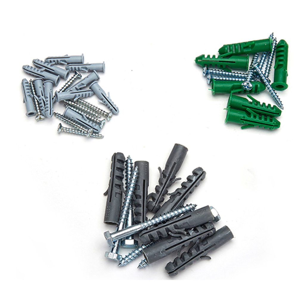 20-50pcs M6/M8/<font><b>M10</b></font> Hybrid Plastic Expansion Plug Pipe Anchor Wall <font><b>Screw</b></font> Tube image