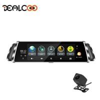 Dealcoo 10' Touch Screen Car DVR Video Recorder Camera ADAS Android 4G/WIFI GPS Navigation Mirror DashCam RearView Mirror Camera