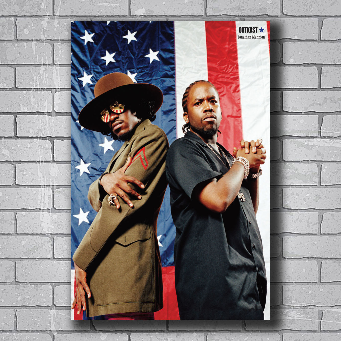 N0643 OUTKAST Stankonia Hip Hop Duo Album Wall Sticker Silk Fabric Poster Art Indoor Decor Bright image