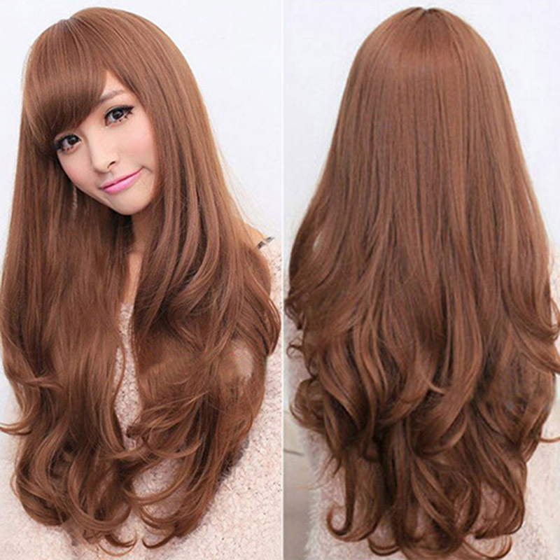 Fashion Heat Resistant Beauty Lace Long Loose Wigs Long Curly Hair Synthetic Full Wig Na ...
