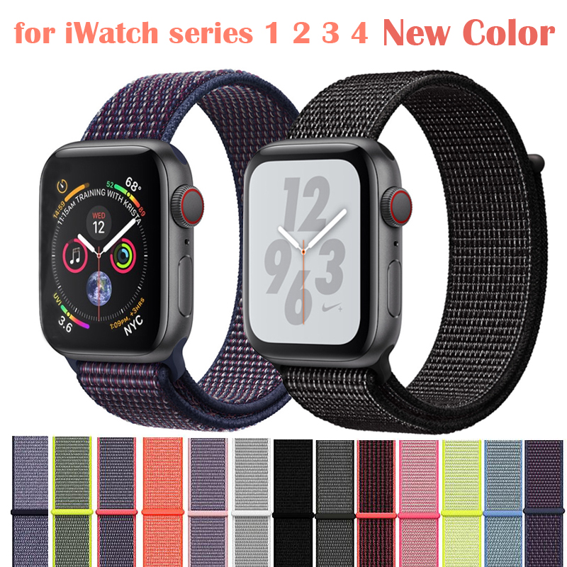 0603739cfb4 Band For Apple Watch Series 3 2 1 38MM 42MM Nylon Soft Breathable ...