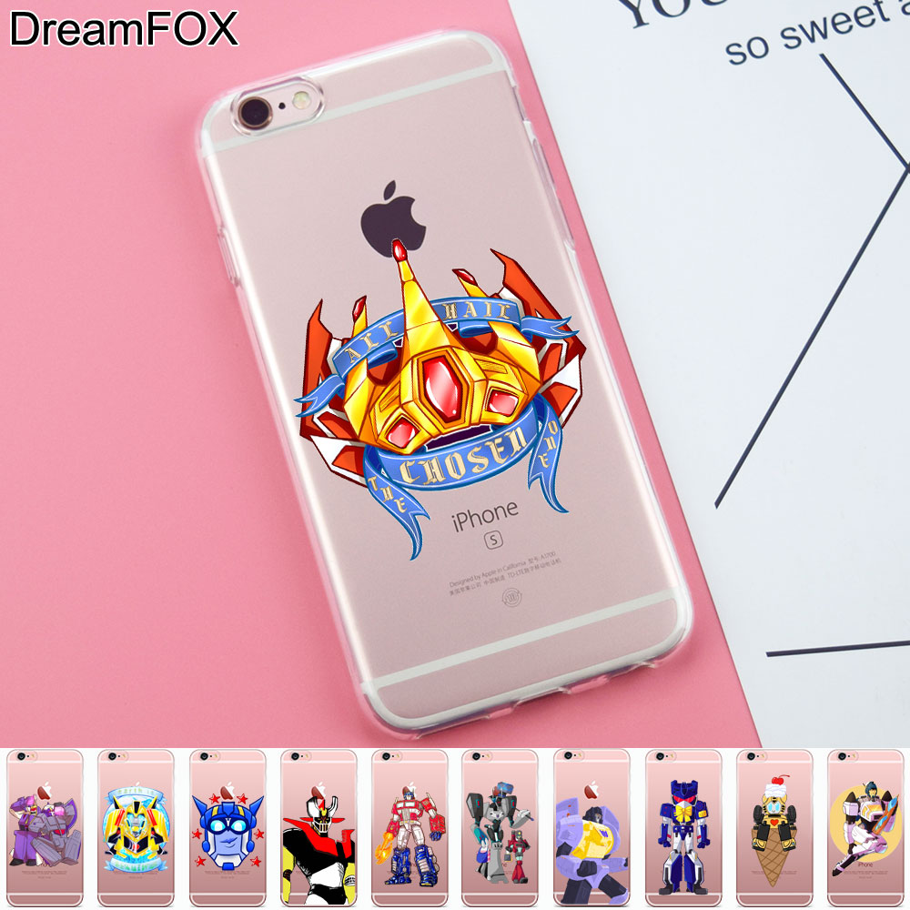 DREAM FOX K357 Transformers Soft TPU Silicone Case Cover For Apple iPhone 8 X 7 6 6S Plus 5 5S SE 5C 4 4S