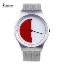 2017 hommes de cadeau Enmex unique conception en cuir dial creative Changing patterns simple mode pour jeunes peuples quartz montres