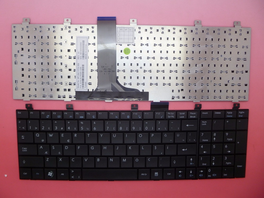 TR TW UK Keyboard For <font><b>MSI</b></font> GE600 GT620 GT627 GT628 GT640 GT725 GT729 GT735 GX600 GX610 GX620 GX623 GX630 GX633 GX640 GX700 GX701 image
