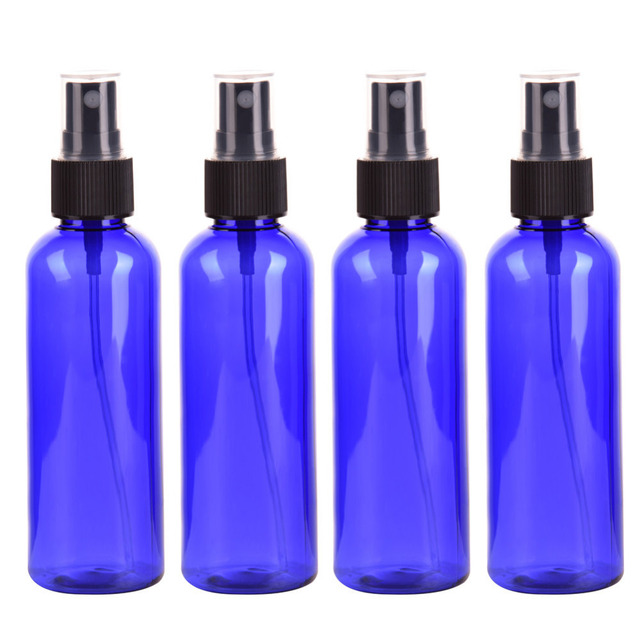 4PC/set 100ml Blue Empty Spray Bottle Plastic  Sprayer Bottles Perfume Container Refillable Cosmetic Atomizer For Tarvel Gift